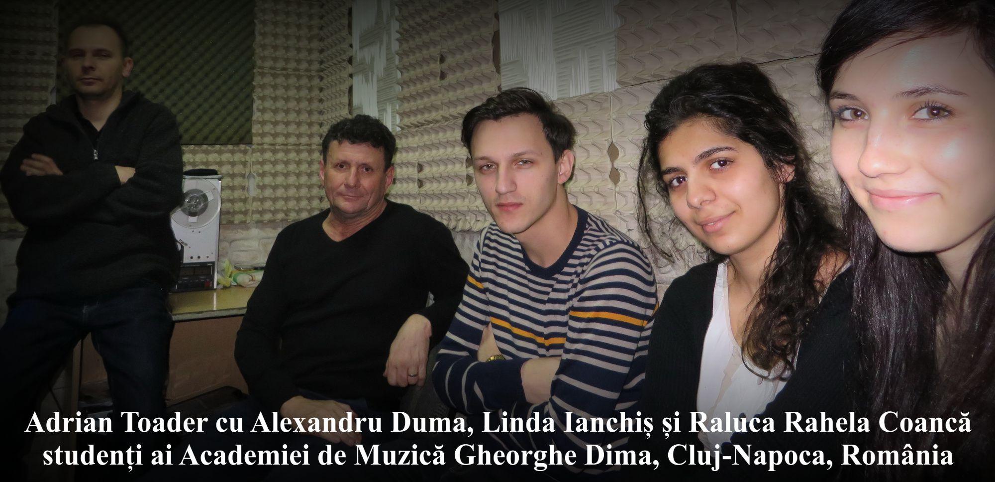 Istavan Szabo cu Adrian Toader si studentii in studioul Anton Pann Road Cluj Napoca 31 ianuarie