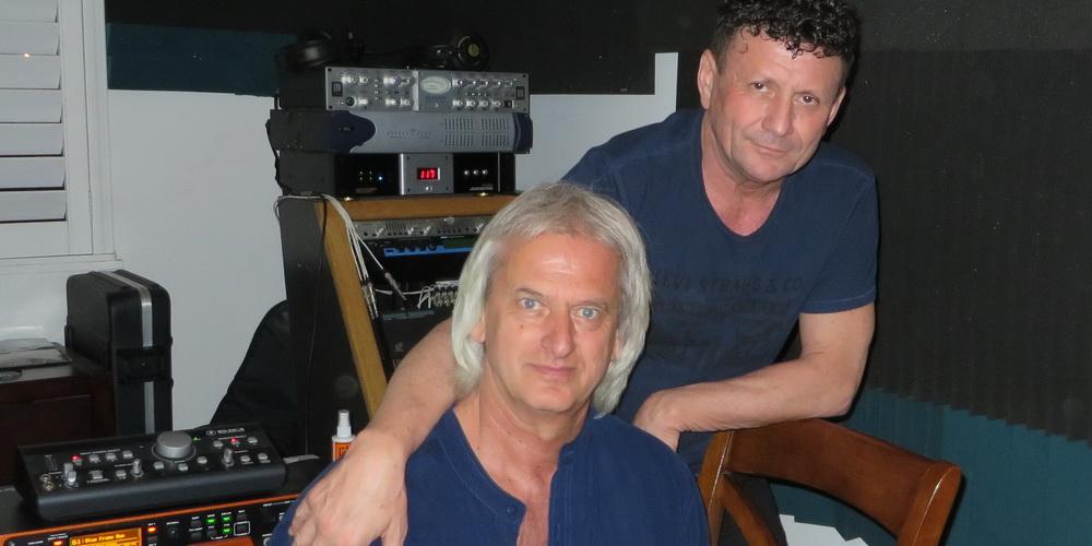 Autorii Imnului Un Suflet de Roman - In Studio Los Angeles - Radu GOLDIS si Adrian TOADER-1000x500